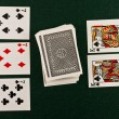 The image of playing cards — Stock Photo