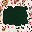 Stock Photo: The frame of playing cards