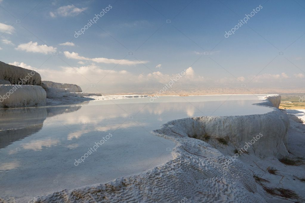 Pamukkale, travertine,tourism. — Stock Photo #1584241