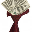 Stock Photo: Cravat with dollars.