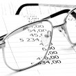 Glasses with numbers — Stock Photo