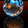 Magic cut crystal sphere — Stock Photo