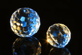 Magic cut crystal spheres — Stock Photo