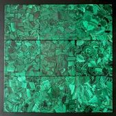 The sample of a surface of the polished malachite — Foto Stock