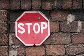"""Traffic sign """"STOP"""" — Stock Photo"""