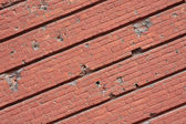Old red brick wall — Stockfoto