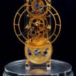 Gold mechanical clock — Stock Photo