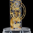 Photo: Gold mechanical clock