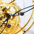 Mechanism of a gold clock — Stockfoto