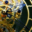 Stok fotoğraf: Mechanism of a gold clock