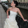 Stock Photo: Model in bridal outfit