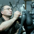 The sculptor — Stockfoto