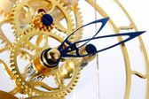 Mechanism of a gold clock — Stok fotoğraf