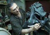Lo scultore — Foto Stock