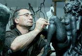 El escultor — Foto de Stock