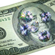 Banknote and Jewels. — Stock Photo
