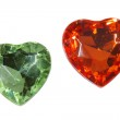 Hearts from the old scratched glass — Stock Photo #1778886