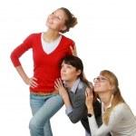 Three girlfriends — Stock Photo