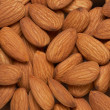 Almonds nuts background — Stockfoto
