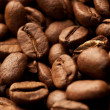 Coffe beans background, macro closeup — Stock Photo