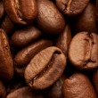 Stock Photo: Coffe beans background, macro closeup