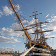 Stock Photo: Ancient sailing vessel moored