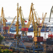 Stock Photo: Port with loading cargo ship