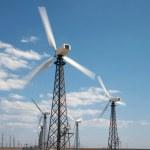 Windmills in wind-farm — Stock Photo #1358569