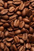 Káva fazole pozadí, makro detail — Stock fotografie