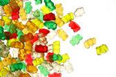 Gummi-bears on white background — Stock Photo