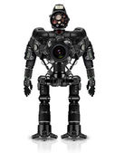 Robot of photocameras — Stock Photo