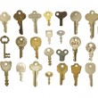 Variety of Old Keys — Stock Photo
