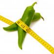 Green Pepper Diet — Stock Photo
