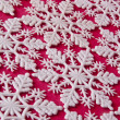Snowflake Background on Red — Stockfoto