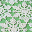 Snowflake Background on Green — Stok fotoğraf