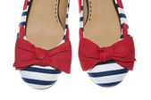 Red, White & Blue Shoes — 图库照片