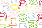 Alphabet and Number Background — Stok fotoğraf