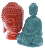 Pair of Vibrant Buddha Statues — Stock Photo