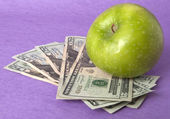 Cost of Education Health Care or Food — Stock Photo