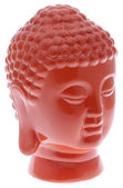 Buddha Head in Vibrant Orange — Foto Stock