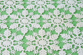 Snowflake Background on Green — Stock Photo