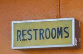 Public Restroom Sign — Stock Photo