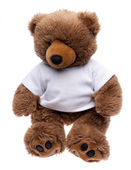 Teddy Bear in a Tee Shirt — Stock Photo