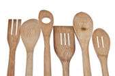 Wooden Utensil Border — Stock Photo