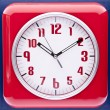 Foto Stock: Retro Revival Red Wall Clock