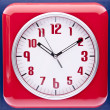 图库照片: Retro Revival Red Wall Clock