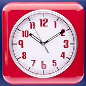 Retro Revival Red Wall Clock — Stock Photo