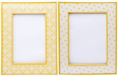 Pair of Yellow Picture Frames — ストック写真