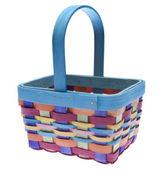 Pestře barevný velikonoční koš — Stock fotografie