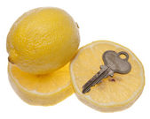 Car or House is a Lemon — Stockfoto